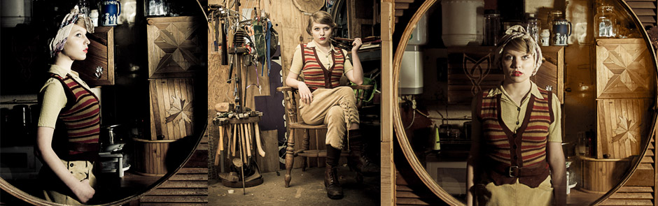 Land girl photo shoot (Rhys Webber)