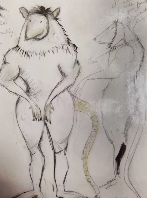 Rat costume design
