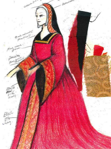 Y Llys lady costume design